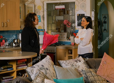 Ep 10078 Monday 22nd June 2020 Seb Franklyn, as played by Harry Visinoni, plucks up the courage to tell Alina Pop, as played by Ruxandra Porojnicu, that he still has feelings for her but the moment is broken by the arrival of Emma Brooker