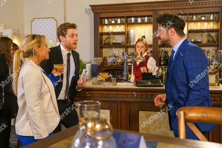 Ep 10077 Friday 19th June 2020  Adam Barlow, as played by Sam Robertson is pleased to see Daniel Osbourne, as played by Rob Mallard having a good time with an attractive woman. When Nicky, as played by Kimberly Hart-Simpson, suggests they make a night of it Daniel agrees and they head out.