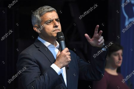 London mayor Sadiq Khan addresses pro and anti-Brexit supporters in London. London's mayor has called for an investigation after rapper Wretch 32 released a video on Tuesday June 9, 2020, of his father being tasered by a police officer