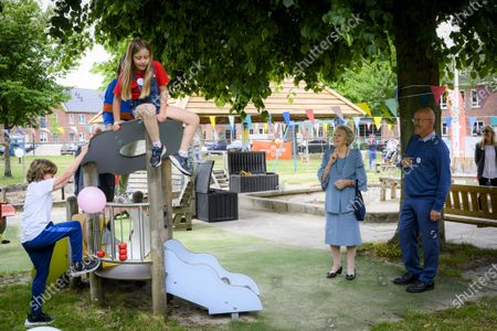 Dutch Princess Beatrix visits the thirteenth edition of the national Outdoor Play Day of Jantje Beton at the Baarn playground association in The Netherlands, 10 June 2020.