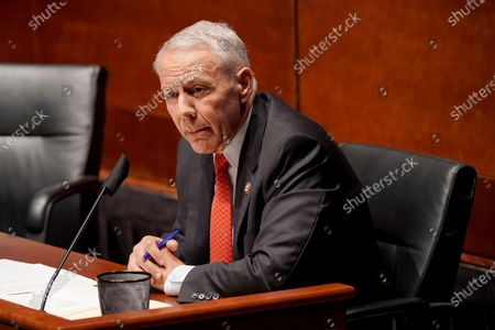 Rep. Ken Buck (R-Colo.) asks questions during a House Judiciary Committee hearing to discuss police brutality and racial profiling, on Capitol Hill, Washington, DC, USA, 10 June 2020.