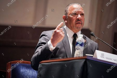 Marc Morial, President and CEO of the National Urban League, gives an opening statement during a House Judiciary Committee hearing to discuss police brutality and racial profiling, on Capitol Hill, Washington, DC, USA, 10 June 2020.
