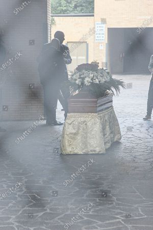 Funeral in Rome of the jazz sax musician, Carlo Conti who died at 41 at the Institute of Legal Medicine.