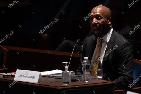 Georgetown Law Prof. Paul Butler, testifies during a House Judiciary Committee hearing on 'Policing Practices and Law Enforcement Accountability', on Capitol Hill, in Washington DC, USA, 10 June 2020.