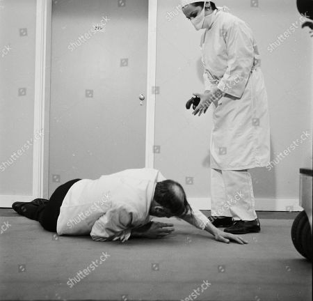 Tony Caunter as Male Nurse and Toby Robins as Selina Trenton