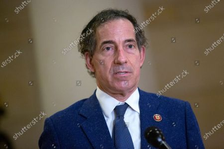 United States Representative Jamie Raskin (Democrat of Maryland) speaks to members of the media during a break at the United States Capitol in Washington D.C., U.S.,.