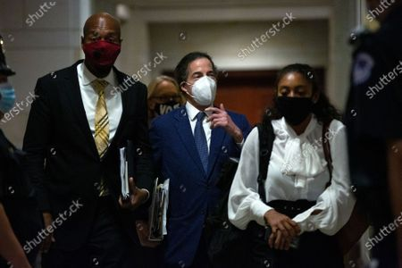United States Representative Jamie Raskin (Democrat of Maryland) leaves the United States House Committee on the Judiciary hearing during a break at the United States Capitol in Washington D.C., U.S.,.