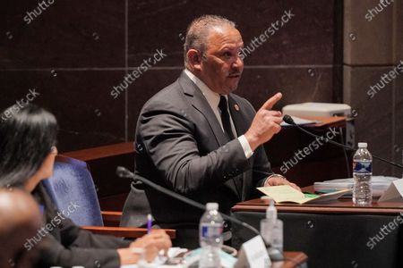 Marc Morial, President and CEO of the National Urban League, testifies during a House Judiciary Committee hearing to discuss police brutality and racial profiling.