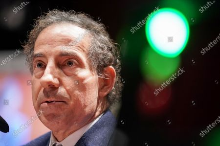 Stock Image of United States Representative Jamie Raskin (Democrat of Maryland) asks questions during a US House Judiciary Committee hearing to discuss police brutality and racial profiling.