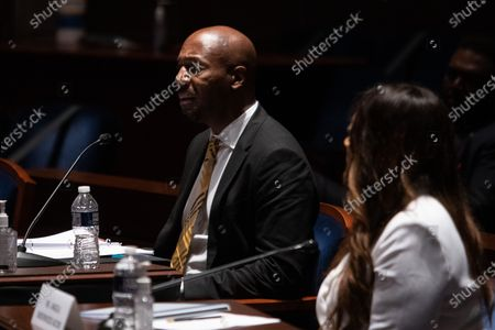 """Georgetown Law Prof. Paul Butler, testifies during a House Judiciary Committee hearing on """"Policing Practices and Law Enforcement Accountability"""", on Capitol Hill, in Washington D.C.,."""