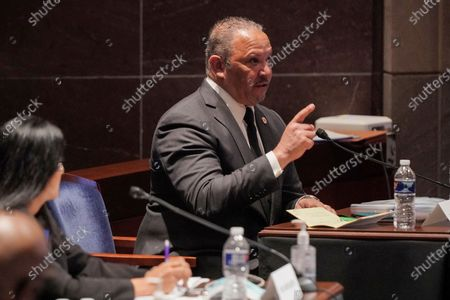 Marc Morial, President and CEO of the National Urban League, testifies during a House Judiciary Committee hearing on proposed changes to police practices and accountability on Capitol Hill, in Washington