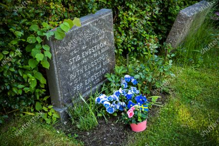 A view of Stig Engstrom's grave at Taby's north cemetery outside Stockholm, Sweden, 10 June 2020. Stig Engstrom, aka the Skandia man, was now named by Chief Prosecutor Krister Petersson as the person who murdered former Swedish prime minister Olof Palme in 1986. Stig Engstrom died in 2000 and the investigation will therefore be closed. Sweden's public prosecutor announced new findings in the murder case of Palme, which remains unsolved. Olof Palme was shoot dead on a street in Stockholm on 28 February 1986 while walking home from a movie theater with his wife.