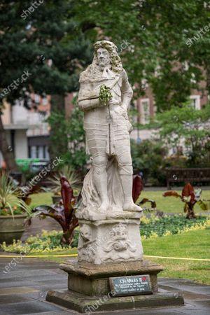 Stock Photo of King Charles II in Soho Square