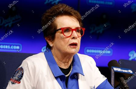 Tennis champion Billie Jean King speaks during a news conference the Los Angeles Dodgers announced that she and her partner Ilana Kloss are joining the Los Angeles Dodgers ownership group in Los Angeles. Groups that advocate for civil rights and women's rights have joined notable athletes in asking the NCAA to move the first and second rounds of the 2021 men's basketball tournament out of Idaho after the state passed a law banning transgender women from competing in women's sports. A letter sent and signed by a list of professional athletes including Megan Rapinoe, Billie Jean King, Jason Collins and Sue Bird calls for the NCAA to move the games set to be held March 2021 at Boise State University