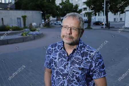 "Stock Image of Thomas Pettersson, Swedish journalist and author whor wrote ""The unlikely assassin"" in 2018. Petterson's theory was that Palme was shot by one Stig Engström, Skandiamannen, Stockholm"