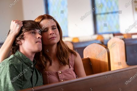 Stock Image of Logan Allen as Kyle Townsend and JoAnna Garcia Swisher as Maddie Townsend
