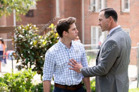 Stock Image of Carson Rowland as Tyler 'Ty' Townsend and Chris Klein as Bill Townsend