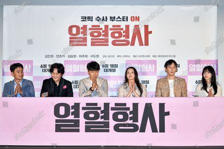 Stock Photo of Yoon Yeo-chang, Kim In-kwon, Kim Seung-hyun, Ha Joo-hee, Seo Do-hyun, Chun Yi-seul