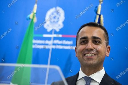Italian Foreign Minister Luigi Di Maio during a meeting with Serbian Foreign Minister Ivica Dacic, at the Farnesina palace in Rome, Italy, 11 June 2020.