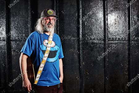 Portrait of American musician J Mascis, photographed before a solo acoustic show at Thekla in Bristol, England, on May 18, 2019. Mascis is best known as the guitarist and vocalist with rock group Dinosaur Jr.