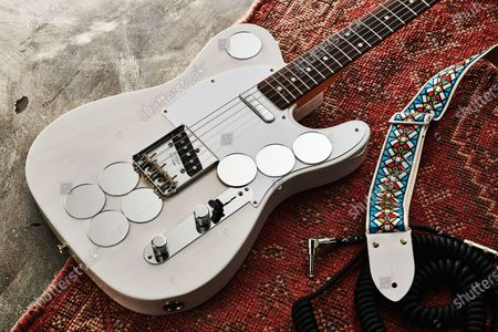 A Fender Jimmy Page Mirror Telecaster electric guitar with a White Blonde finish