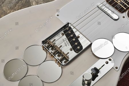 Editorial photo of Fender Jimmy Page Mirror Telecaster Electric Guitar, UK - 18 Apr 2019