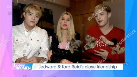 Stock Image of Jedward and Tara Reid