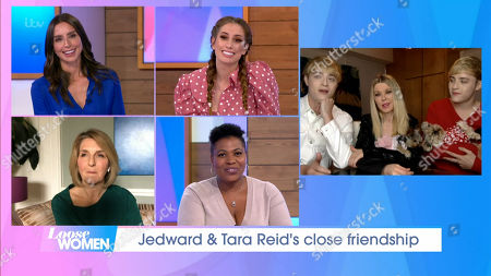 Stock Photo of Christine Lampard, Stacey Solomon, Kaye Adams, Brenda Edwards, Jedward and Tara Reid