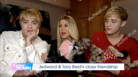 Stock Picture of Jedward and Tara Reid