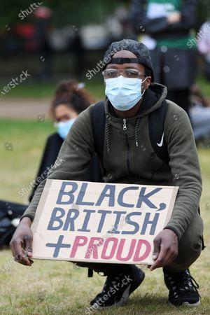 Black Lives Matter protesters marching on Park Lane