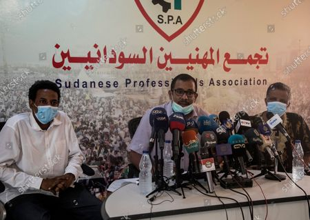 Editorial picture of Sudanese Professionals Association press conference on Ali Kushayb, Khartoum, Sudan - 12 Jun 2020