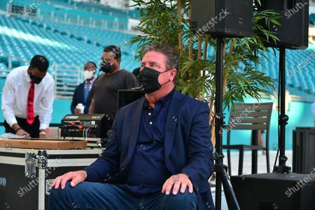 Miami Dolphins Hall of Famers Dan Marino attend the 5000 Role Models of Excellence Project and Miami Dolphins Police and Youth Conference at Hard Rock Stadium. The event is designed to discuss the tension between law enforcement and young men of color and come together for tangible solutions going forward