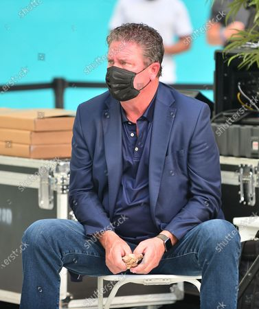 Miami Dolphins Hall of Fames Dan Marino attend the 5000 Role Models of Excellence Project and Miami Dolphins Police and Youth Conference at Hard Rock Stadium. The event is designed to discuss the tension between law enforcement and young men of color and come together for tangible solutions going forward
