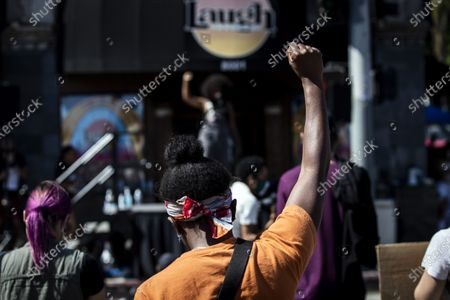 Editorial image of Protest in Los Angeles in wake of George Floyd's death, USA - 12 Jun 2020