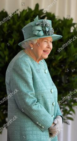 Stock Picture of Britain's Queen Elizabeth II attends a ceremony to mark her official birthday at Windsor Castle in Windsor, Britain, June 13, 2020. The Queen celebrates her 94th birthday this year.