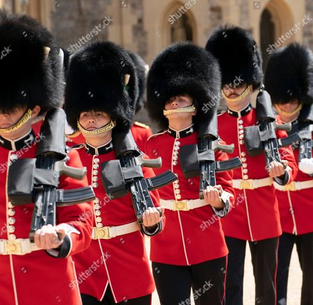 Queen Elizabeth II will view a military ceremony in the Quadrangle of Windsor Castle to mark Her Majesty's Official Birthday on Saturday 13th June, 2020. The ceremony will be executed by soldiers from the 1st Battalion Welsh Guards, who are currently on Guard at Windsor Castle, and feature music performed by a Band of the Household Division. The ceremony will be executed by soldiers from the 1st Battalion Welsh Guards, who are currently on Guard at Windsor Castle, and feature music performed by a Band of the Household Division.