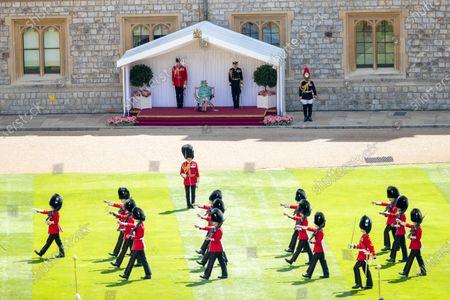 Editorial picture of Queen Elizabeth II official birthday celebration, Windsor, UK - 13 Jun 2020