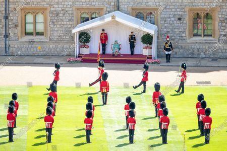 Editorial photo of Queen Elizabeth II official birthday celebration, Windsor, UK - 13 Jun 2020