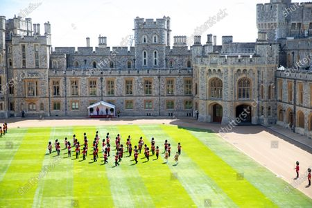 Trooping The Colour inside Windsor Castle