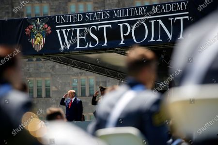 Editorial photo of Trump, West Point, United States - 13 Jun 2020