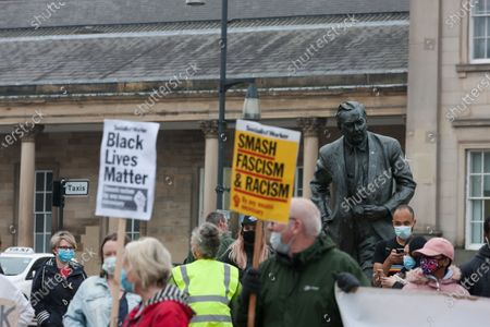 Editorial photo of Protests in Huddersfield, UK - 13 Jun 2020