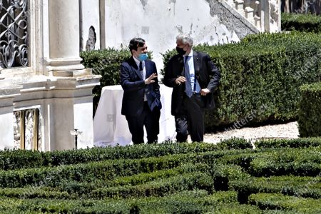 The 'Stati Generali dell'Economia' have started, the series of meetings on the economy. All the Ministers of the Italian government were present at Villa Pamphilj. In videocall the President of the European Commission. in the picture Vincenzo Amendola sx, minister for European affairs