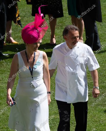 Celebrity Chef Raymond Blanc heads to the Parade ring to make a presentation on day five of Royal Ascot