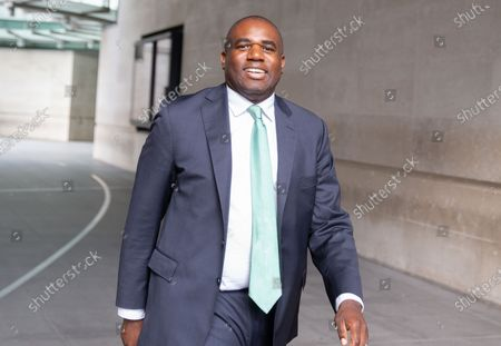 Shadow Justice Secretary, David Lammy, leaves the BBC studios after  appearing on 'The Andrew Marr Show'.
