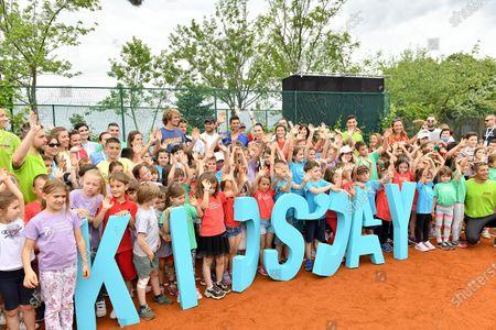 12.06.2020, , Belgrad, SBR, Tennis, Adria Tour ,   Alexander Zverev, Dominic Thiem,Grigor Dimitrov, Novak Djokovic, Jelena Jankovic