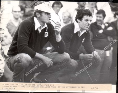 Brian Barnes 1977 Brian Barnes And Bernard Gallagher At The Ryder Cup.