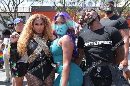 Editorial image of Black Lives Matter protests, Los Angeles, USA - 14 Jun 2020