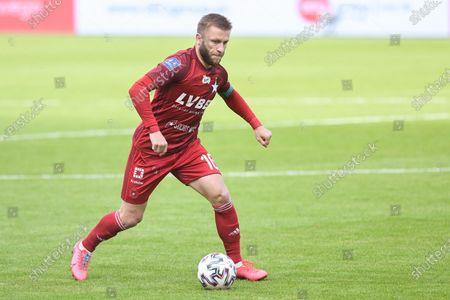 Stock Image of Jakub Blaszczykowski of Wisla seen in action during the Polish Ekstraklasa match between Arka Gdynia and Wisla Krakow. (Final score; Arka Gdynia 0:0 Wisla Krakow)