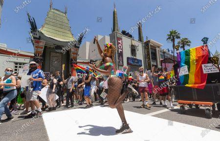 Editorial image of America Protests California, Los Angeles, United States - 14 Jun 2020