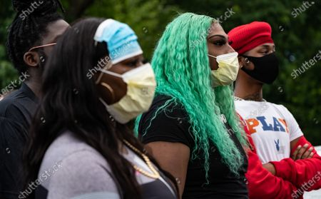 Protesters gather for Black Trans Lives Matter rally at Franklin Park